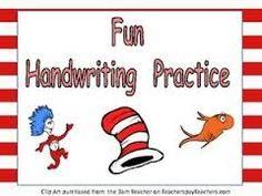 Prentresultaat vir clipart handwriting grade 1 worksheet