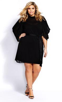 Shop Women's Plus Size Sheer Embrace Dress - Black Black Women Fashion, Curvy Fashion, Fashion Models, Womens Fashion, Plus Size Fashion Tips, Plus Size Outfits, Petite Models, Catwalk Models, The Embrace