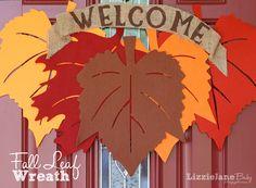 DIY Dollar Store Fall Wreath I Heart Nap Time | I Heart Nap Time - Easy recipes, DIY crafts, Homemaking