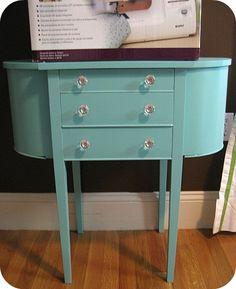 need to redo my Martha Washington table  http://journeychic.com/2010/03/30/my-martha-washington-sewing-table-makeover/