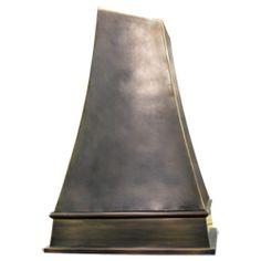 custom copper range hood Texas Lightsmith Model #6, F