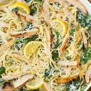 Lemon Ricotta Parmesan Spinach Pasta with Grilled Chicken   Cooking Class