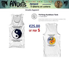 Another Awesomely cool Premium Quality #Tanktop with unique Anubis Apparel(c) front & back designs #yinyang #sun #moon #tshirt  #fashion