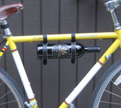 Wine rack for the bike. c c Majors and - Storefront Life - Storefront Life Polsinelli.How 'bout a bike ride? Bike Accessories, Leather Accessories, Leather Bicycle, Bottle Carrier, Bike Rides, Champagne Bottles, Wine Bottle Holders, Bike Frame, Love Craft