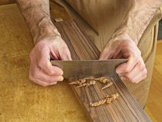 A wood scraper is a deceptively simple tool, but is wonderfully effective for quickly and economically surfacing wood.