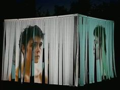 "Captation""Litote & Hyperbole"" juin 2009 by hotel. curtains - projection w/ 'private' room inside Projection Installation, Interactive Installation, Artistic Installation, Projection Mapping, Art Installations, Conception Scénique, Gropius Bau, Bühnen Design, Booth Design"