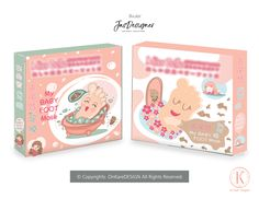 Baby Foot Mask Packaging Design Baby Foot, Cute Food, Baby Design, Graphic Design Illustration, Adobe Photoshop, Adobe Illustrator, Packaging Design, Label, Package Design