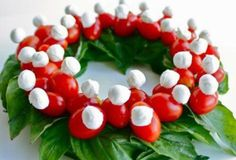 Caprese for Christmas. Bc there is Never a bad time for caprese. Christmas Goodies, Christmas Colors, Christmas Treats, Christmas Baking, Christmas Holidays, Christmas Decor, Christmas Parties, Winter Holiday, Italian Christmas