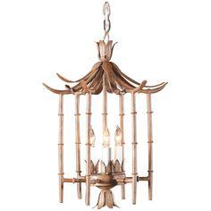 Wildwood Wrought Iron Bamboo Lantern 268