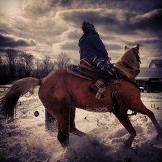 Barrel race in snow. Barrel Racing Quotes, Barrel Racing Horses, Barrel Horse, Western Riding, Horse Riding, Horses In Snow, Rodeo Events, Winter Horse, Ranch Life