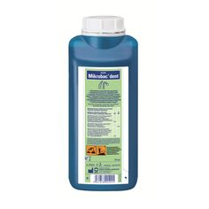 Bode - Chemie. Microbac Dent 2L. Aldehyde-free cleaning disinfectant for suction units and amalgam separators  Powerful soil- and slime-dissolving effect Suitable for all common suction units and amalgam separators Pleasant smell