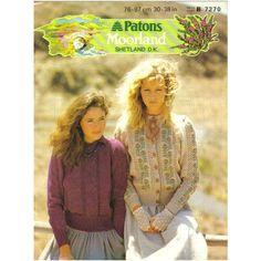 54fc199e8ed8da Knitting Pattern -Patons 7270- Teen Lady s Double Knit Cardigan   Sweater 30 -40