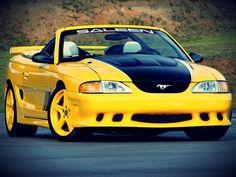Mustang from Saleen Sn95 Mustang, Saleen Mustang, Mustang Club, Lamborghini, Ferrari, Ford Mustang Convertible, Yellow Car, Pony Car, Hot Rides