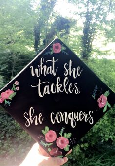 what she tackles, she conquers. Gilmore Girls graduation cap decoration