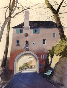 Rob Piercy The Gatehouse (North) - probably my favourite watercolour artist