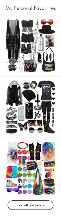 """""""My Personal Favourites"""" by a-mashup-of-band-names ❤ liked on Polyvore featuring INDIE HAIR, Warner Bros., Talitha, Karl Lagerfeld, Rebecca Minkoff, Harley-Davidson, Casetify, Charlotte Russe, Giuseppe Zanotti and Ross-Simons"""