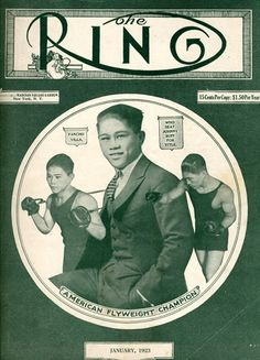 Filipino Boxer Pancho Villa on Ring Magazine  ...had over 100 fights