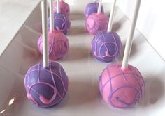 Cake Pops  Pink and Purple Cake Pops for Baby by PoppiesCakePops, $21.95