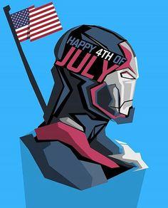 Happy 4th Of July from @comicbookfact, @comicbookduals, @comicbookpics, @comicbook.news, & @sandjsreviews! * Art by: @bosslogic * #4thOfJuly #IronPatriot #USA #IronMan #CaptainAmerica #Marvel #MarvelComics #ComicBooks #ComicBookPics #Avengers #PopHeadShots
