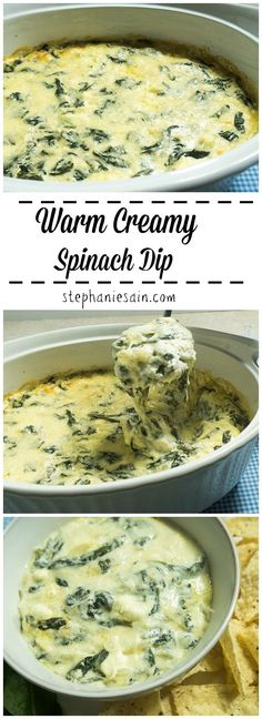 Warm Creamy Spinach Dip is an easy to prepare tasty appetizer. Perfect for enter… Warm Creamy Spinach Dip is an easy to prepare tasty appetizer. Perfect for entertaining or anytime you want a tasty appetizer. Appetizer Dips, Yummy Appetizers, Appetizer Recipes, Dinner Recipes, Easy Vegetarian Appetizers, Gluten Free Appetizers, Low Carb Low Calorie, Warm Spinach Dip, Recipe For Spinach Dip