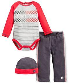 Quiksilver Baby Boys' 3-Piece Hat, Bodysuit & Pants Set