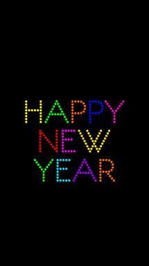 black neon lights happy new year iphone phone wallpaper background lock screen