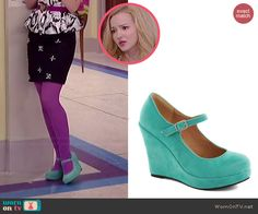 Liv's mint mary jane wedges on Liv and Maddie.  Outfit Details: http://wornontv.net/44698/ #LivandMaddie