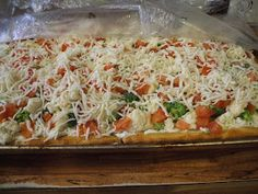 Gray Cardigan: Vegetable Pizza