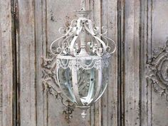 Fransk taklampa, kupol, antikvit - Chic Antique