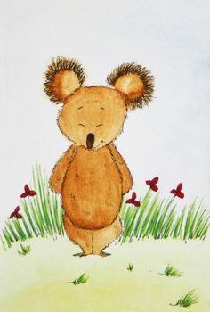 Shy Koala - Watercolour (sold) by Sandra Herrgott