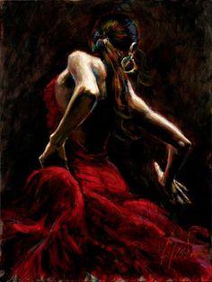 mujer muy guapa baila flamenco