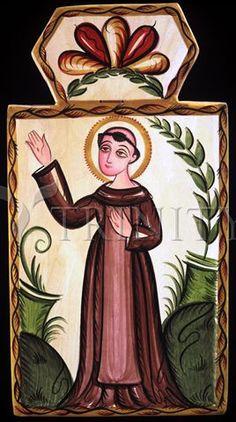 "San Francisco de Asis | Catholic Christian Religious Art - Retablos by Br. Arturo Olivas, SFO - From your Trinity Stores crew, ""San Francisco pray for us!"""