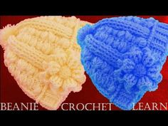 Como tejer gorro boina a Crochet o Ganchillo  en doble punto relieve - YouTube