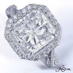 http://www.jbstar.com/product/platinum-diamond-ring-with-4-01-ct-cushion-cut-diamond-center/    looks so much better in person    by jb star SKU: 1261-018