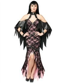 Lacy Vamp Adult Womens Costume