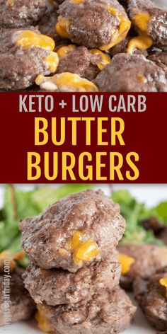 YUMMY Butter Burgers that are Keto and Low Carb! YUMMY Butter Burgers that are Keto and Low Carb! This easy burger recipe is full of flavor and will leave your kitchen smelling like McDonald's. Low Carb Burger, Keto Burger, Low Carb Dinner Recipes, Keto Dinner, Breakfast Recipes, Diet Breakfast, Dessert Recipes, Keto Meals Easy, Easy Low Carb Lunches