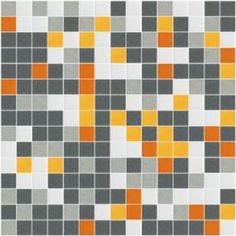 Use these tiles as a Subtle, quiet block quilt (I love the idea of grey and orange - a favorite of mine)