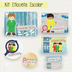 Kit Etiqueta Escolar para volta as aulas no tema DPA