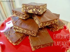 Chocolate Flapjacks - She Who Bakes Golden Syrup Flapjacks, Chocolate Flapjacks, No Bake Chocolate Cheesecake, Chocolate Flavors, Flapjack Recipe, Book Cakes, Baking Business, Small Cake, Melting Chocolate