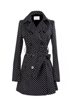 Polka dot trench. Perfect for a rainy fall days