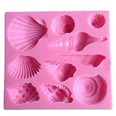Elinka Cute Romantic Seashell Sea Shell Silicone Cake Mould Chocolate Fondant Mold for sale Fondant Molds, Cake Mold, Fondant Cakes, Fondant Tips, Fondant Recipes, Cupcake Cakes, Cake Recipes, Chocolate Fondant, Chocolate Molds