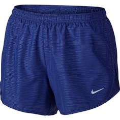 Nike Modern Embossed Tempo Short ($28) ❤ liked on Polyvore featuring activewear, activewear shorts, shorts, workout, athletic shorts, bottoms, nike activewear, nike sportswear and nike