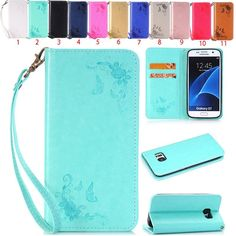 New Pattern Leather Magnetic Flip Wallet Case Cover For Samsung Galaxy Models