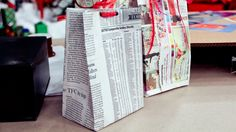 Map or Newspaper Gift Bags
