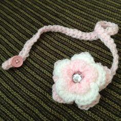 Crochet pacifier holder! Visit http://www.etsy.com/shop