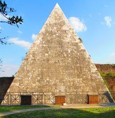 Pyramid of Gaius Cestius in Rome. Built between 18-12 B.C.