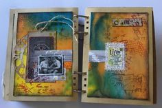 Student Work (art journal) by Ruthsartdemavie in Inventive Ink – Colorful Mixed Media Effects class.  Register here: craftsy.me/MarjieKemper_5042