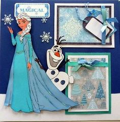 Momz Disney Frozen Piecing Premade Sewn Scrapbook Pages Adriana | eBay