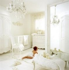 White Baby Nursery Chic Ideas Inspiration Elegant