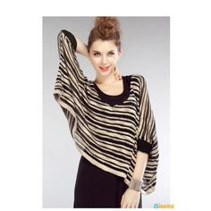 bat loose blouse,very nice looking Bat Sleeve, Long Sleeve, Blouse Outfit, Pencil Dress, Stripes, Clothes For Women, Nice, Sleeves